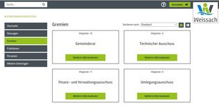 Screenshot aus dem Ratsinformationssystem